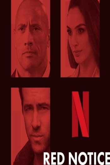 Red Notice dvd release poster